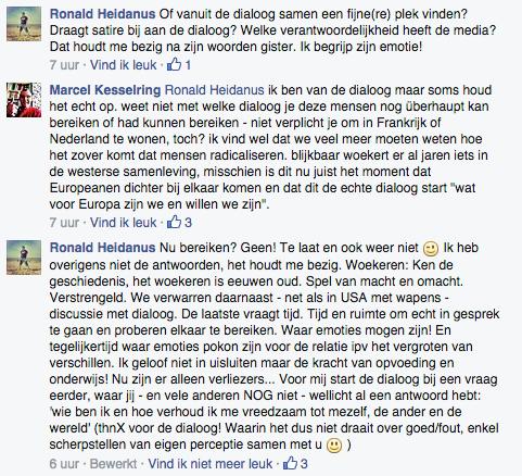 dialoog op Facebook
